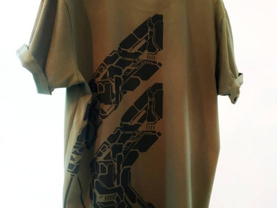 Olive Green T with Black Half-Back MethLab Print main photo