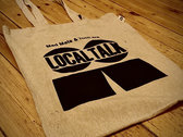 Organic Cotton Tote Bag with LT Logo (Black) photo