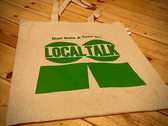 Organic Cotton Tote Bag with LT Logo (Green) photo