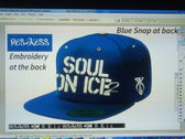 LA style Ras Kass fitted cap (Dodgers colors) + FREE GIFT CD photo