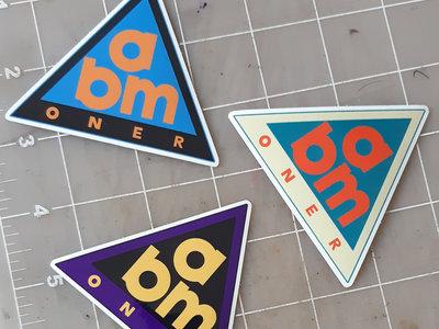 "3"" ABM ONER Stickers x3 main photo"