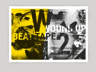 Wound Up beat Tape - Risograph Poster A3 main photo