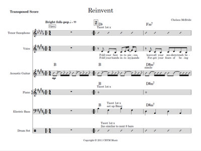 Reinvent - score and parts main photo