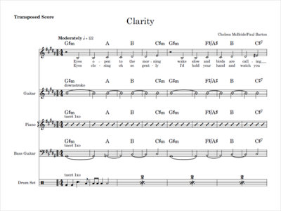 Clarity - score and parts main photo