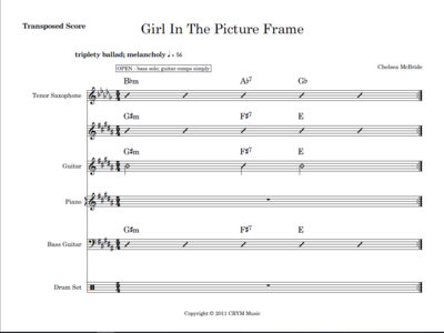 Girl In The Picture Frame - score and parts main photo