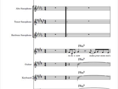 Radio Song - score and parts main photo
