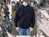 'Whale' hoodie (cream print) photo