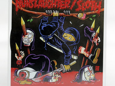"Nunslaughter / Sloth Split 7"" Vinyl Picture Disc main photo"