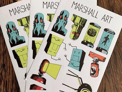 Marshall Art Sticker Sheet main photo