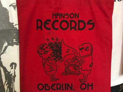"HANSON RECORDS ""Victrola Blast"" Red Record Tote Bag! main photo"