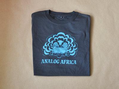 Analog Africa Men T-Shirt - screen printed turquoise logo main photo