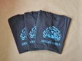 Analog Africa Men T-Shirt - screen printed turquoise logo photo
