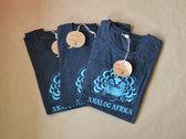 Analog Africa Women T-Shirt - screen printed turquoise logo photo