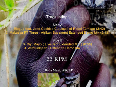 """Sacred Rhythm Music & Cosmic Arts Presents: Ancestral Food & Healing Medicine by Joaquin Joe Claussell - Extended Versions 12"""" Limited Black Vinyl Release main photo"""