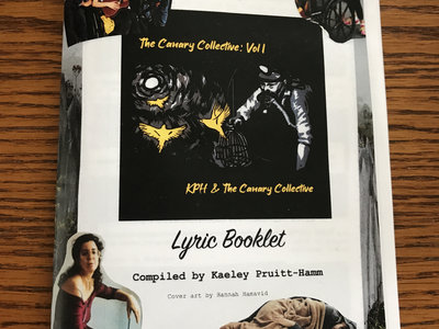 """""""The Canary Collective"""" Limited Edition Collaged Lyric Booklet + Digital Album main photo"""