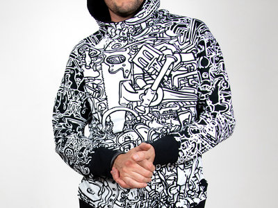 B/W Tinkerbox hoodie main photo