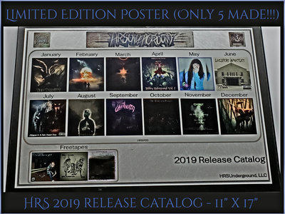 Limited Edition Poster - 2019 Release Catalog (only 5 made!!) main photo