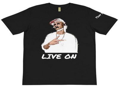 """Tony Story """"LIVE NO EVIL"""" T-shirt (black) main photo"""