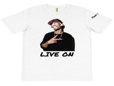 "Tony Story ""Live No Evil"" T-Shirt (white) main photo"