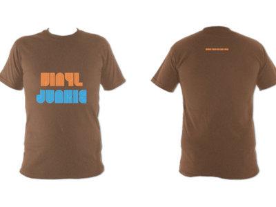 Unisex Vinyl Junkie T Shirt (Russet) main photo