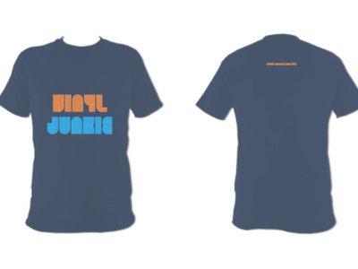 Unisex Vinyl Junkie T Shirt (Indigo Blue) main photo