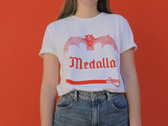 "Camiseta Blanca ""Sable / Murciélago"" - Tinta Roja photo"