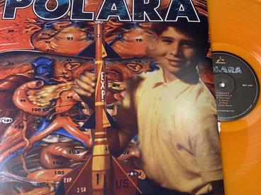 **FREE US SHIPPING** Polara 1995 debut record on orange vinyl, 90s tee, sticker, poster, postcard main photo