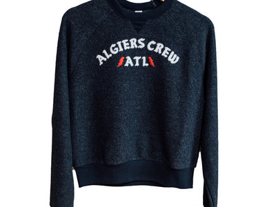 Women's Premium 'Algiers Crew' Eco-Teddy Baby Champ Embroidered Sweatshirt / Extremely limited (USA) main photo