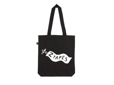 Organic Cotton Z Tapes Black Tote Bag main photo