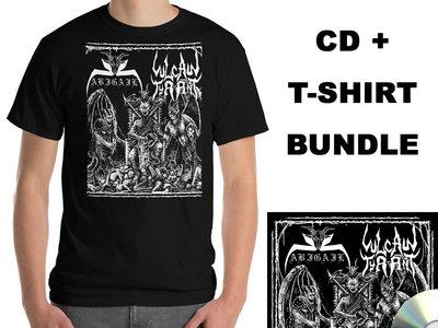 Abigail / Vulcan Tyrant - Split CD + T-Shirt Bundle main photo