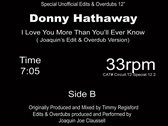 """Donny Hathaway """" I love you more then you'll ever know """" - 12"""" Vinyl Release. 50 COPY REPRESS photo"""