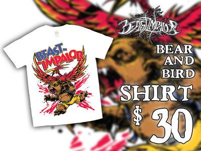 """""""Anthropomorphic Bear and Bird"""" Shirt main photo"""