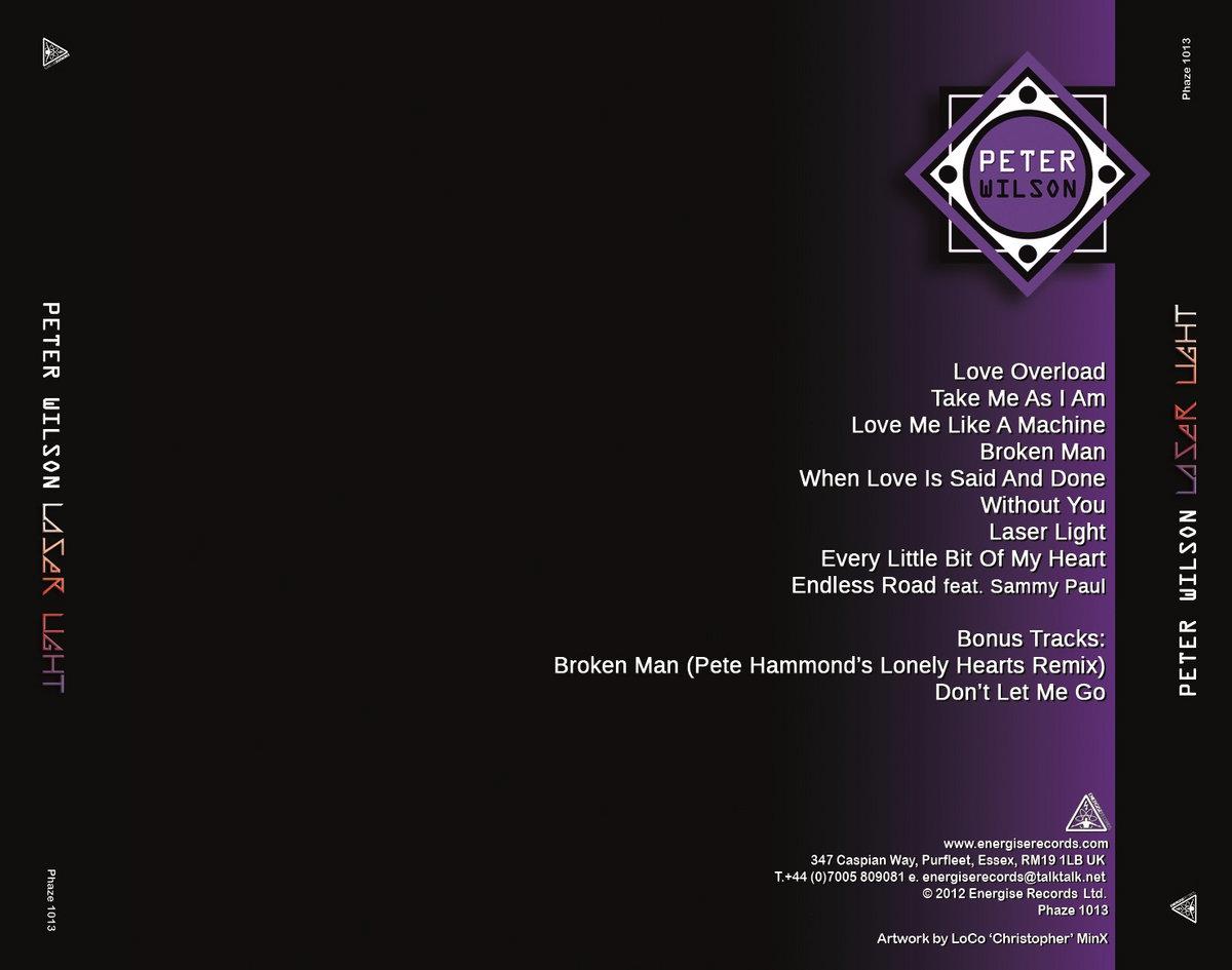 Laser Light Peter Wilson Energise Records