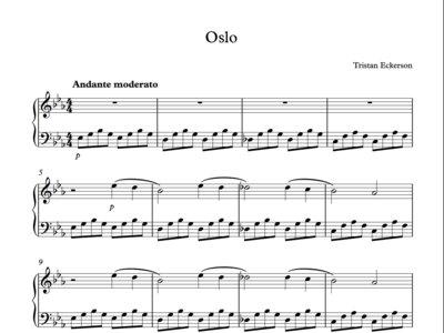 Sheet Music - Oslo - PDF main photo