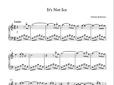 Sheet Music - It's Not Ice - PDF main photo