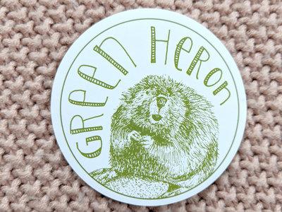 "Green Heron ""Beaver"" sticker main photo"