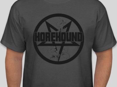 Horehound Grey T-Shirt with Pentagram Logo main photo