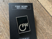First Word Enamel Pin Badge photo