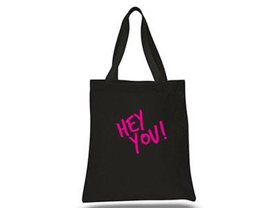 HEY YOU! BLACK TOTE BAG main photo