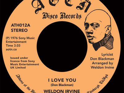 "Weldon Irvine -  I Love You / What's Going On? [7"" Vinyl] main photo"