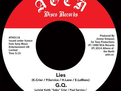 """G.Q. - Lies / Is It Cool? [7"""" Vinyl] **SALE** main photo"""
