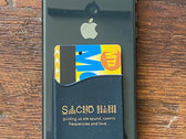 Sacred Rhythm Music Card Wallet for Mobile Phones (Black w/ Orange Font) photo