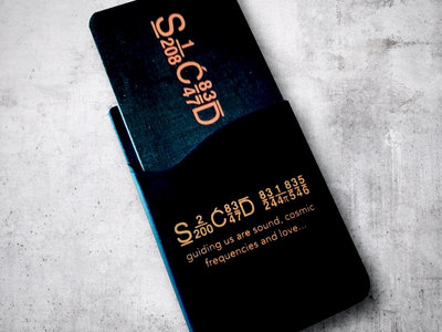Sacred Rhythm Music Card Wallet for Mobile Phones (Black w/ Orange Font) main photo