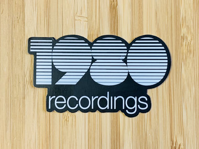 1980 Recordings Black & White Sticker main photo