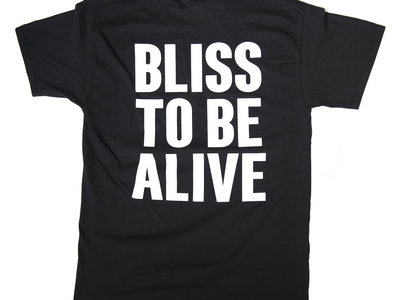 Black 'Bliss to Be Alive' T-shirt (short sleeve) main photo
