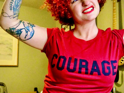 COURAGE t-shirt in red main photo