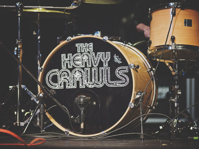 The Heavy Crawls drum head with logo, used 2017-2020 main photo