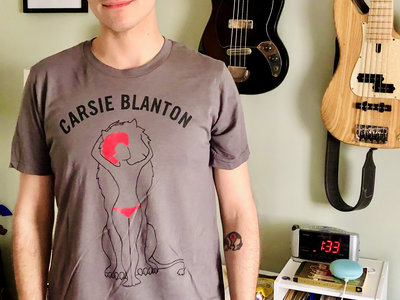 Carsie Blanton LION shirt in grey/red main photo