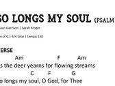 So Longs My Soul - Chord Chart photo