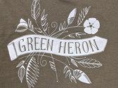 Green Heron Women's V-Neck T-Shirt (Olive) photo